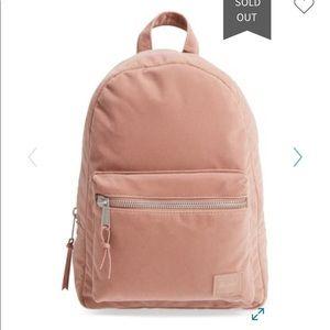 Herschel supply velvet backpack
